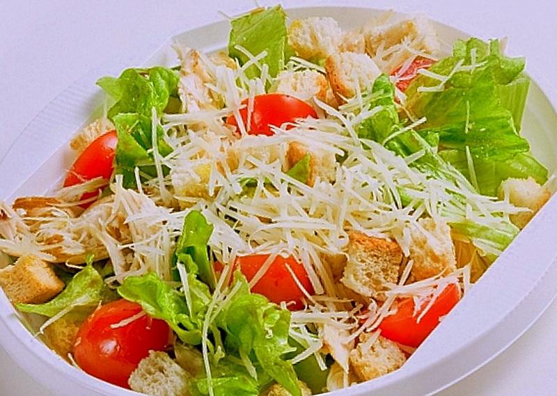 Цезарь приготовление салата с