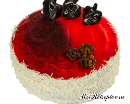 Торт персик-маракуйя