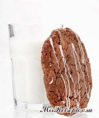 Шоколадно-клюквенное овсяное печенье