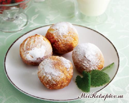 Творожные пончики со сгущенкой