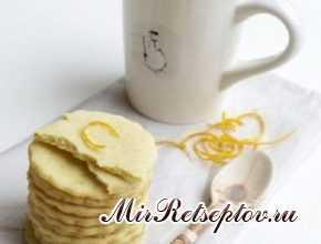Быстрое песочное печенье в молочном шоколаде