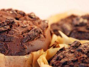 Шоколадные маффины с какао