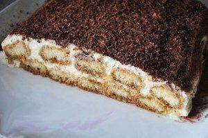 Торт Тирамису с печеньем Савоярди без выпечки