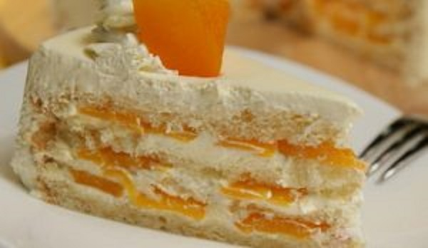 Торт-мороженое с абрикосами