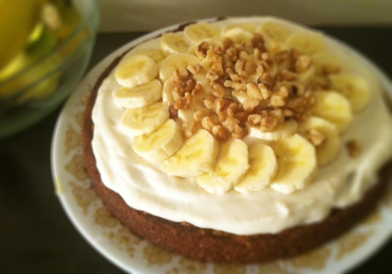 Украшение торта бананами фото