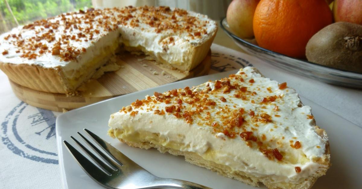 Творожный пирог с бананами рецепт простой рецепт