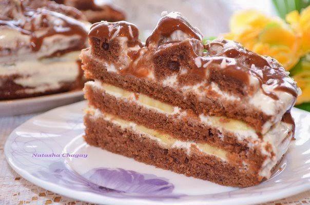Банановый торт рецепт сфото
