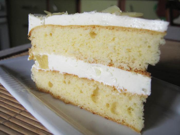 Бисквит со сметанным кремом рецепт с фото
