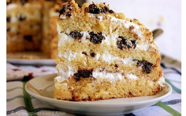 Торт медовик с черносливом рецепт с фото пошагово