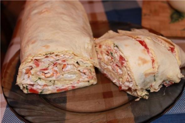 рецепт с лавашом и крабовым мясом рецепт