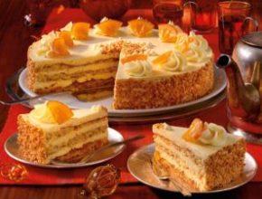 Апельсиновый торт с масляным кремом