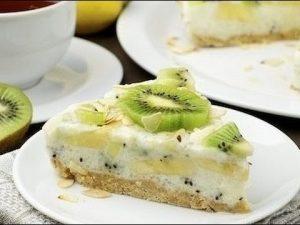 Йогуртовый торт с фруктами
