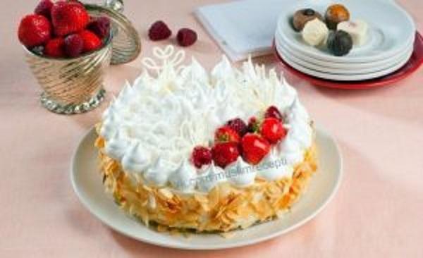 Торт-безе с заварным кремом