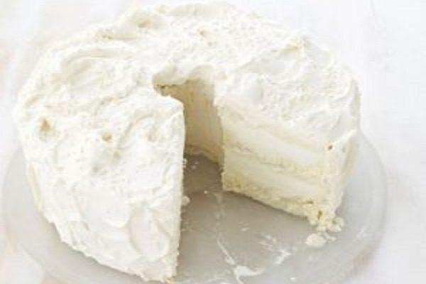 Ванильный торт-мороженое