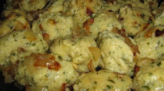 Постные картофельные галушки
