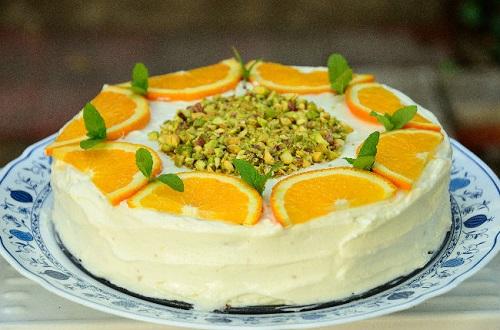 Торт из сыра и апельсинов