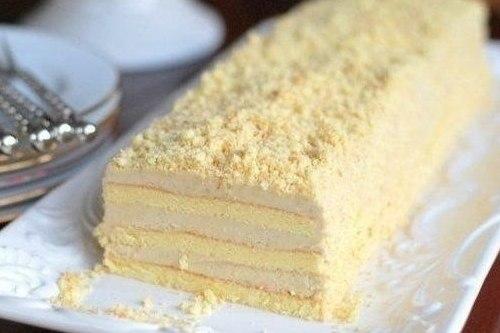 Торт бисквитный «Славянка» с халвой