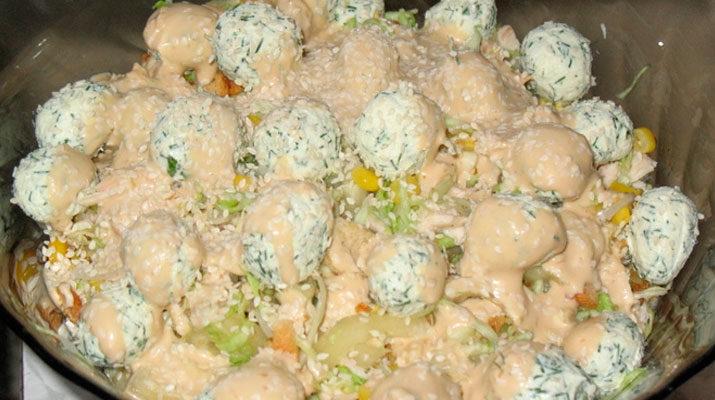 Греховно вкусный салат из пекинской капусты с курицей
