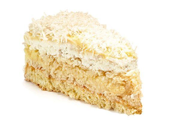 Кокосовый торт с заварным кремом