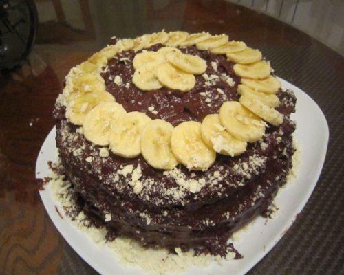 Рецепт бананового торта с фото