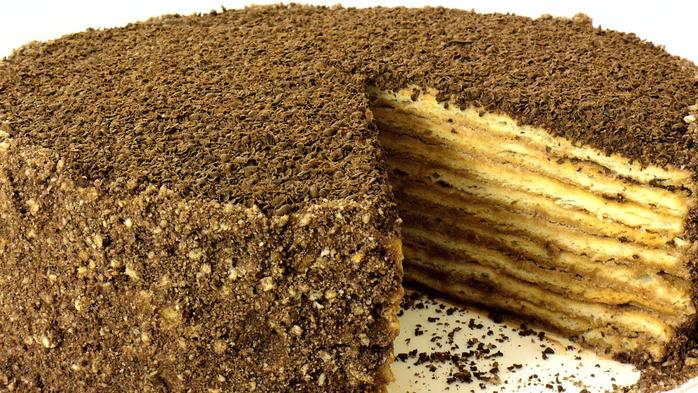 """Торт """"Микадо"""". Песочные коржи и карамельный крем"""