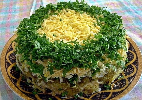 """Вкуснейший салат """"грибы под шубой"""""""