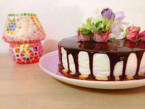 Йогуртовый торт с черной смородиной / Yogurt cake with black currant