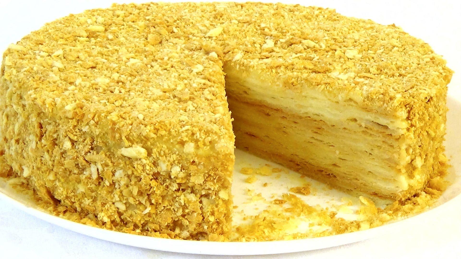 Пошаговый рецепт торта наполеон