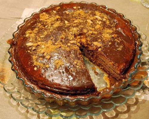 Торт Медовик с шоколадным заварным кремом