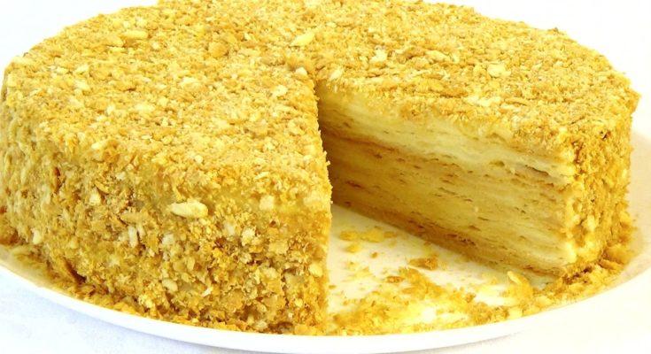 """Закусочный торт """"Наполеон"""" новогодний рецепт"""