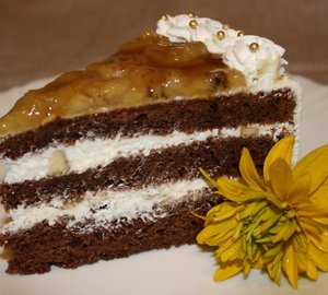 Шоколадно-банановый торт