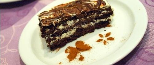Трюфельный торт с кремом из белого шоколада