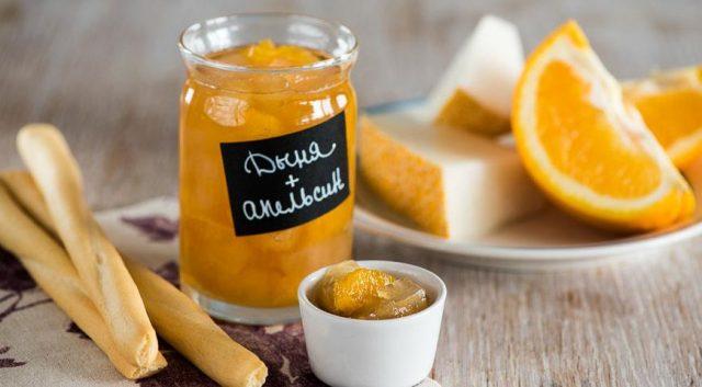 Варенье из дыни и апельсина