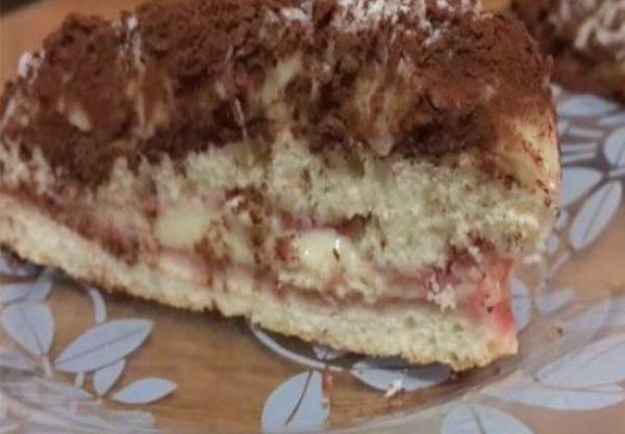 Готовим бисквитный торт с заварным кремом фото рецепт