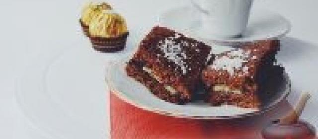 Шоколадные пирожные с бананом