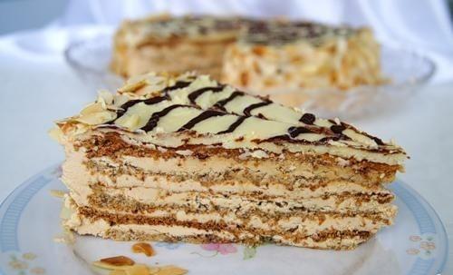 """Мини-торт """"Эстерхази"""" с печеньем"""