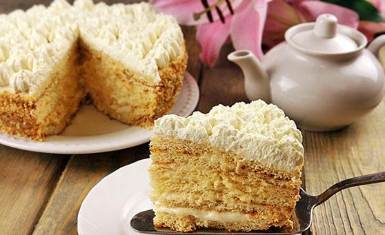 Торт «Молочная девочка» с пломбирным кремом