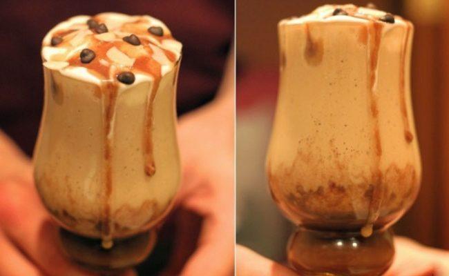 Коктейль с соленой карамелью