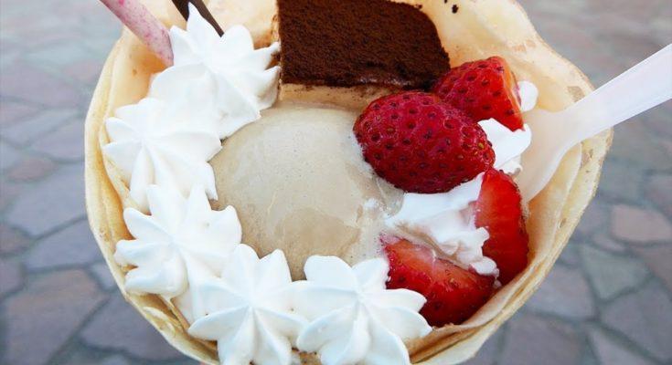 Японский уличный еда - мороженое крепи сборник Tokyo Япония