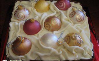 """Торт """"Новогодние игрушки"""""""