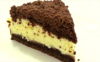 Творожный пирог с шоколадной крошкой
