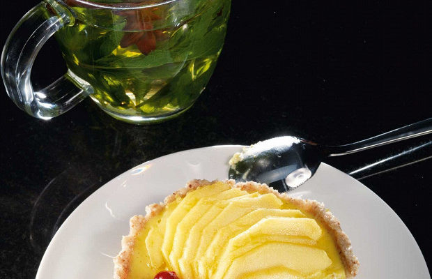 Тарталетки с кремом из манго