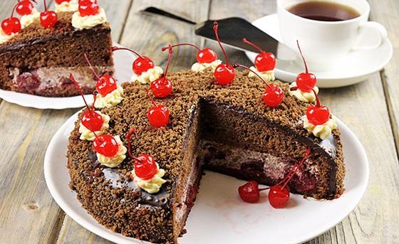 Торт pjanaja-vishnja