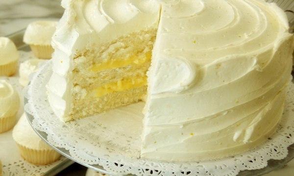 Лимонный торт - самый лимонный и новогодний