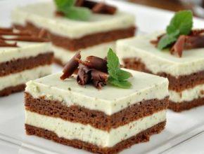Шоколадный торт с мятно-сливочным кремом 🌿