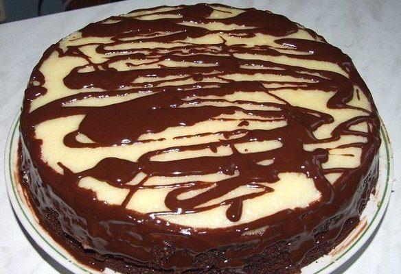 Шоколадный тортик с заварным кремом