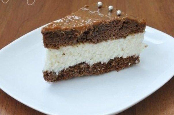 Торт кокосово-шоколадный