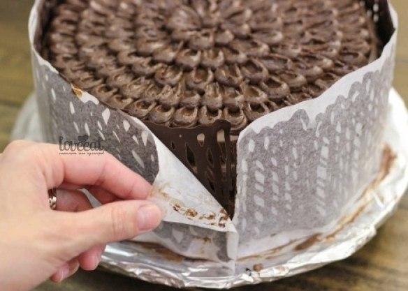 Шоколадный заборчик для торта
