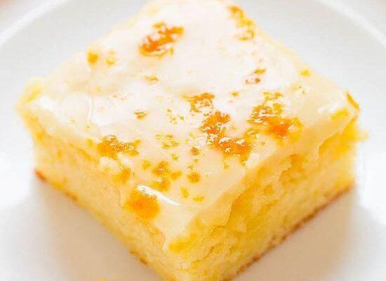 Апельсиновый пирог с медово-апельсиновой глазурью