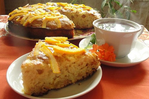 Бисквит с апельсиновым соком и цедрой в мультиварке